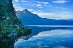 Lake and Mountain in Bali Stock Photos
