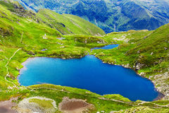 Lake and mountain (Capra Lake in Romania) Stock Image