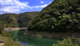 Lake in the mountain. Day time Royalty Free Stock Images