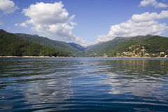 Lake in mountain of Geres, in. The north of Portugal stock photos