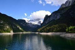 Lake mountain Gosau stock photography