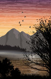 Lake and mountain landscape Stock Image