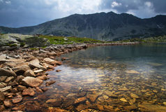 Lake in mountain landscape Stock Photography