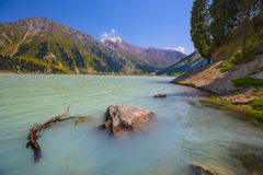 Lake  mountain landscape central Asia Royalty Free Stock Images