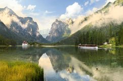Lake and mountain landscape Royalty Free Stock Photos