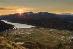 Lake and mountain landscape Stock Photo