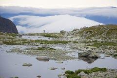 Lake on mountain Royalty Free Stock Photos
