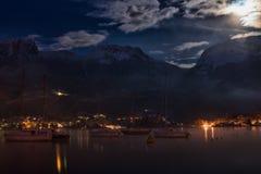 Lake and mountain night Stock Image