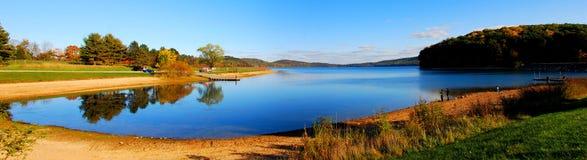 Lake Mountain panorama Stock Photos