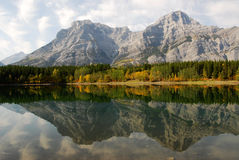 Lake and mountain reflection Royalty Free Stock Image