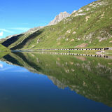 Lake with mountain reflections. Lake in front of a wonderful mountain scenery Royalty Free Stock Images