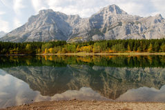 Lake and mountain reflections Royalty Free Stock Photo