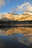 Lake and mountain reflections. In wedge pond in the morning moment, kananaskis country, alberta, canada Stock Photography