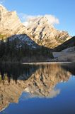 Lake and mountain reflections. In wedge pond in the morning moment, kananaskis country, alberta, canada Royalty Free Stock Image