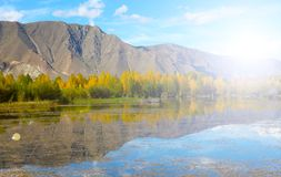 Lake and mountain reflections. Autumn view of lake and mountain reflections Stock Image