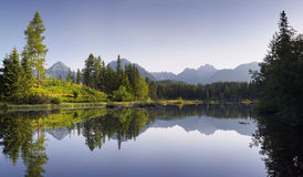 Lake in the mountain resort Royalty Free Stock Image