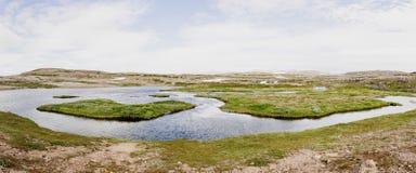 lake mountain river water ICELAND Stock Photo