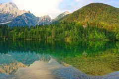 Lake mountain scenic natural view. Lake mountain scenic or stunning natural view Stock Photos