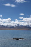 Lake, mountain, sky. In Tibet, China Royalty Free Stock Photo