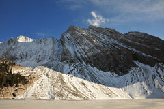 lake mountain snow Стоковое Фото