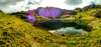 Lake in the mountain Stock Image
