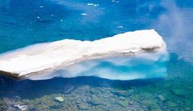 Lake. Mountain summer. Snow and glacier. Close up. Global warming royalty free stock photos