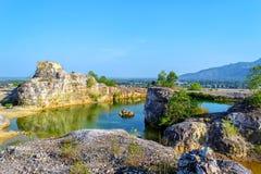 Lake on mountain. Lake on Tapa mountain at An Giang province, Vietnam Royalty Free Stock Photo