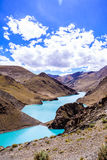 Lake with mountain. At the Tibet Royalty Free Stock Photography