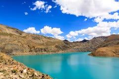 Lake with mountain. At the Tibet Stock Photos