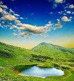 Lake in a mountain valley Royalty Free Stock Image