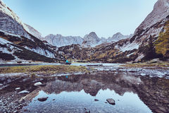 Lake in mountain valley Stock Photography