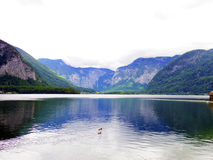 Lake and mountain view in Hallstatt, Astria Royalty Free Stock Images