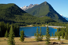Lake and Mountain Views Alberta, Canada Royalty Free Stock Photo