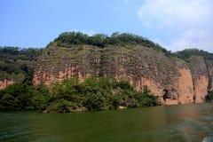 The lake and mountain views in Dajin lake park,Taining,Fujian,China Royalty Free Stock Photo