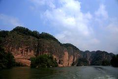 The lake and mountain views in Dajin lake park,Taining,Fujian,China Stock Photo