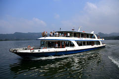 The lake and mountain views in Dajin lake park,Taining,Fujian,China stock images