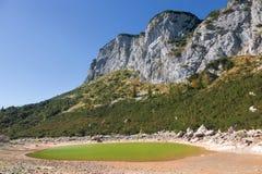Lake in a mountainous area Stock Photo