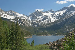 Lake in the mountains. Lake in the Sierra Nevada mountains Stock Image