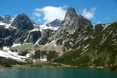 Lake and mountains. In High Tatras, Slovak republic stock image