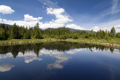 Lake in the mountains Royalty Free Stock Images
