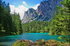 Lake in mountains. Stock Photos