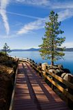 Lake in the mountains. Lake Tahoe with clouds over it Royalty Free Stock Photos