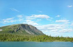 Lake in the mountains. Russian north Royalty Free Stock Image