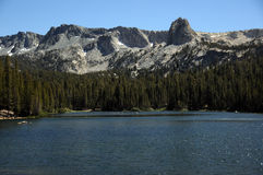 Lake in the mountains. View of lake  in california mountains Royalty Free Stock Photo