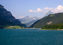Lake and mountains royalty free stock images