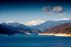 Lake and mountains. Beautiful landscape with mountains and lake Royalty Free Stock Photography