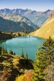 Lake with mountains in Allgau Bavaria Royalty Free Stock Photos