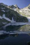 Lake in mountains. Alpine Stock Images