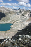 Lake in mountains. Alpine Royalty Free Stock Photography