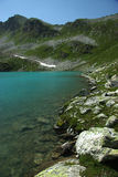 Lake in mountains. Alpine latitudes Royalty Free Stock Image